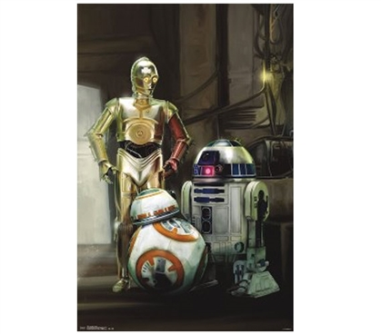 Star Wars 7 The Force Awakens - Droids College Poster Dorm Essentials Dorm Room Decor