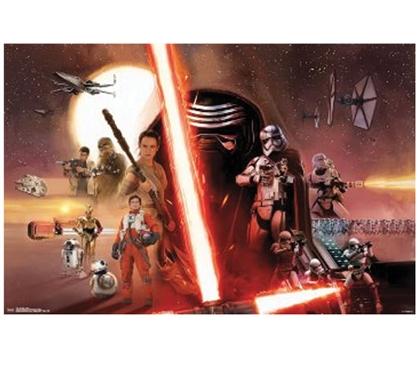 Star Wars 7 The Force Awakens Dorm Poster Dorm Essentials Dorm Room Decorations