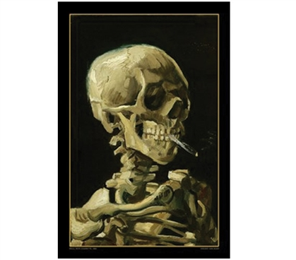 Van Gogh - Skull with Cigarette Poster