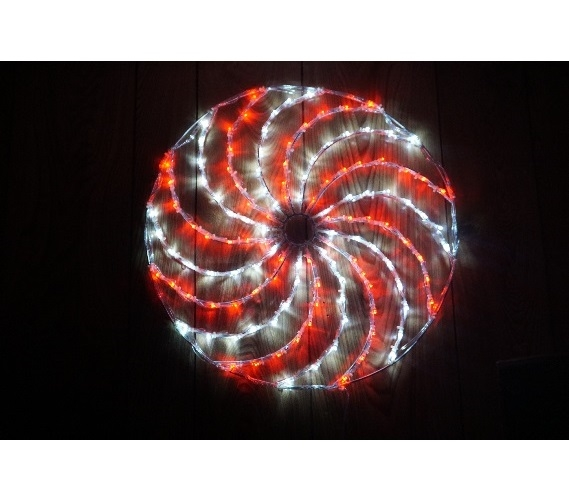 red spinning christmas light wheel