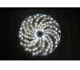 White Spinning Christmas Light Wheel College Wall Decor Dorm Room Decorations