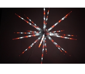 Dorm Room Decorations Holiday Decorations Red and White Starburst Dorm Light With 8 Functions