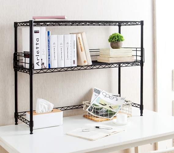 Suprima Desktop Carbon Steel Bookshelf Black