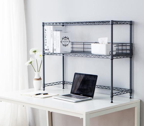 Suprima Desktop Metal Bookshelf Gray