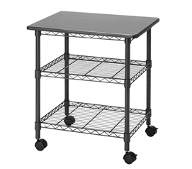 Essential Dorm Room Organizer Suprima Desk Station Rolling Rack Gunmetal Gray College Item