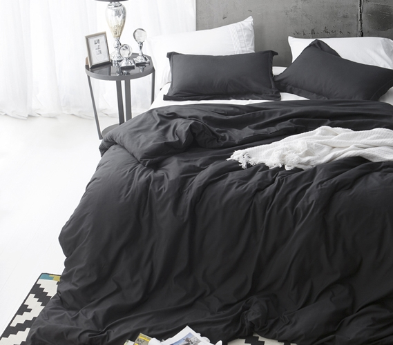 Black Twin Xl Duvet Cover For College Comforter Stylish Supersoft