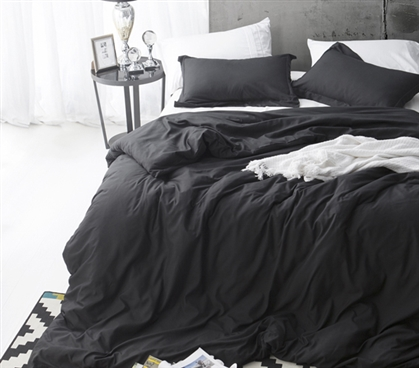 Stylish Extra long Twin Bedding Cozy Supersoft Black Twin XL College Duvet Cover
