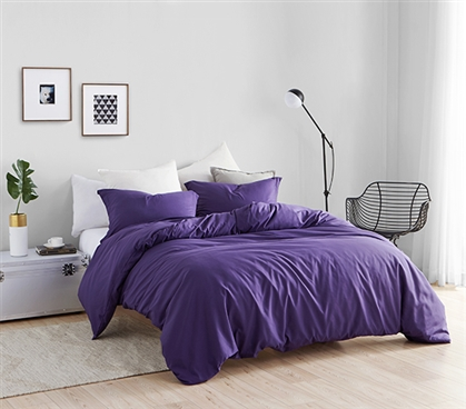 Duvet Cover Purple Reign Supersoft College Bedding - Twin XL