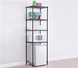 Essential Suprima Extra Height Mini Shelf Supreme Black College Shelving For More Dorm Room Space