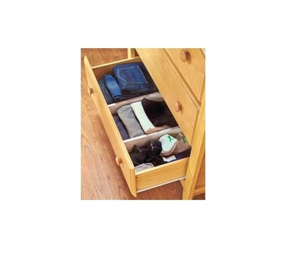 Snap Fit Dorm Drawer Dividers (Set of 2) Dorm Organizer