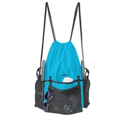 ShowaBag - Waterproof Drawstring Shower Backpack - Turquoise/Black