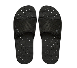 Showaflops - Men's Antimicrobial Shower Sandal - Black Shower Shoes