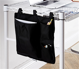 Essential College Storage One-of-a-Kind Black Suprima® Shelf Pouch Useful Dorm Supplies