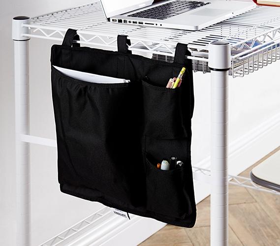 dd438c15634e Essential College Storage One-of-a-Kind Black Suprima Shelf Pouch Useful  Dorm