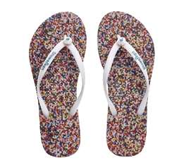 Showaflops - Women's Antimicrobial Shower Sandal - Sprinkles