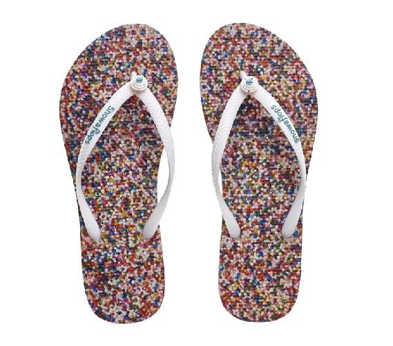 aec353bf4c48 Showaflops - Women s Antimicrobial Shower Sandal - Sprinkles