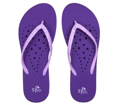 Showaflops - Women's Antimicrobial Shower Sandal - Violet/Lavendar
