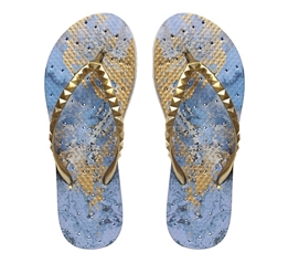 Showaflops - Women's Antimicrobial Shower Sandal - Blue Grotto