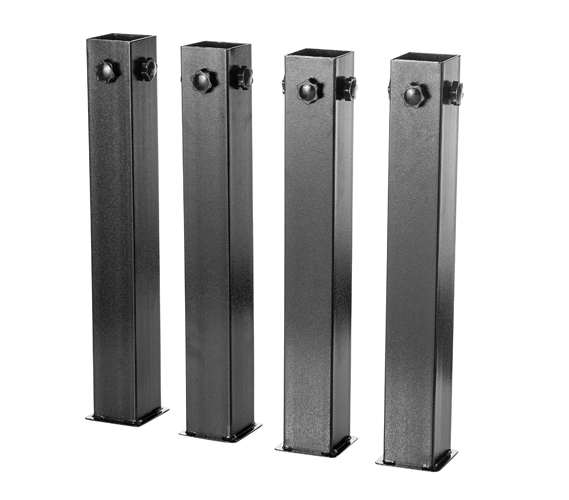 suprima ultimate height bed risers - carbon steel - black ​