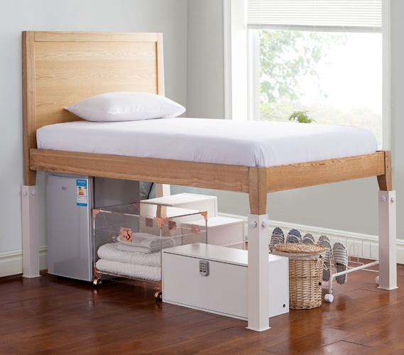 Suprima Ultimate Height Bed Risers Carbon Steel White