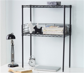 Suprima Mini Desktop Carbon Steel Bookshelf - Small Version - Gunmetal Gray