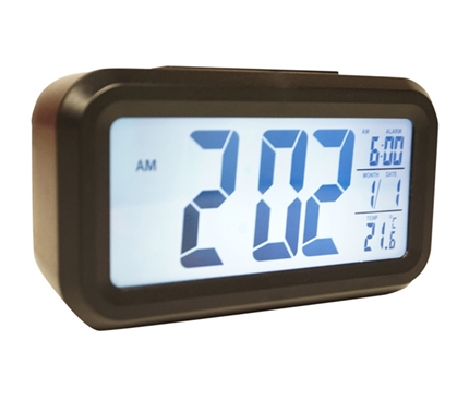 Battery Operated Light Sensor Dorm Alarm Clock