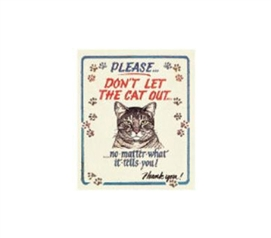 Buy Cheap Dorm Stuff - Don't Let Cat Out - Tin Sign - Fun Dorm Wall Decor
