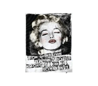 Buy College Tin Signs - Marilyn Kiss - Tin Sign - Add Dorm Decor