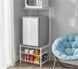 Suprima Portable Mini Fridge Organizer - White