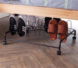 Suprima Underbed Shoe Holder with Wheels - Black