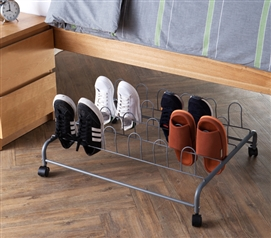 Suprima Underbed Shoe Holder with Wheels - Gray