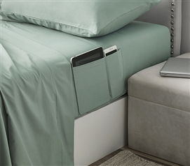 Bedside Pocket Twin XL Sheet Set - Supersoft Iceberg Green