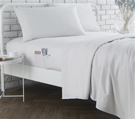 Bedside Pocket Twin XL Sheet Set - Supersoft Jet Stream