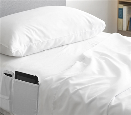 Bedside Pocket Twin XL Sheet Set - Supersoft White