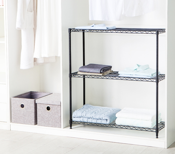 Suprima Shelving Room And Closet Organizer   Black