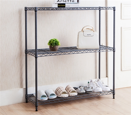 Essential College Closet Organizer Useful Suprima® Gray Shelving Unit for Dorm Room