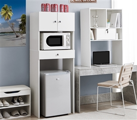 Wooden Shelf Supreme - Mini Fridge Organizer - White