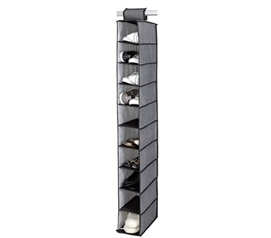 10-Shelf Shoe Organizer - Gray