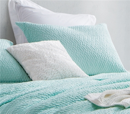 Softest Stone Washed Sham - Hint of Mint