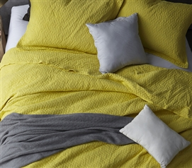 Extra Long Twin Quilt Softest Stone Washed Limelight Yellow Twin XL Bedding