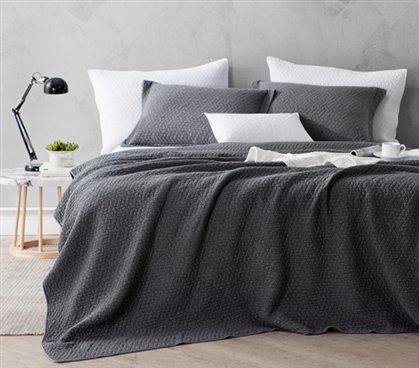 Softest Stone Washed Quilt - Pewter - Twin XL