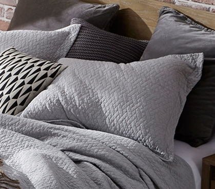 Softest Stone Washed Sham - Tundra Gray