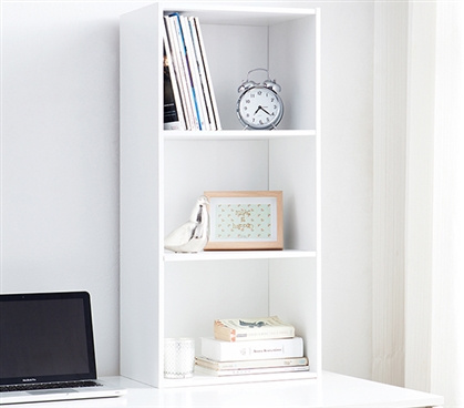 Yak About It Standard Floor Bookshelf - White