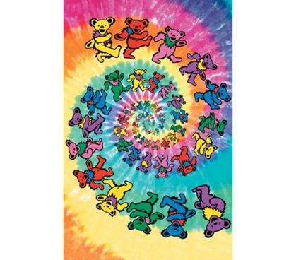 Great For Fans Of The Dead - The Grateful Dead - Colorful Bears - Cover Your Whole Wall