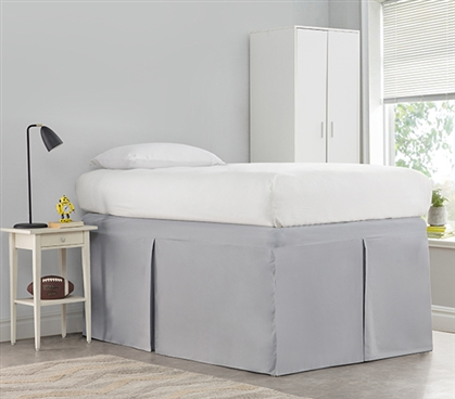 Tailored Dorm Sized Bed Skirt - Alloy