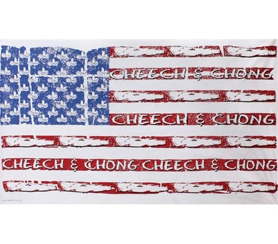 Cheech and Chong U S  Flag Tapestry