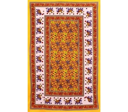 Yellow Elephants Tapestry