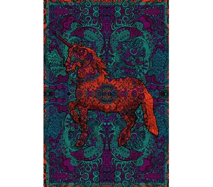 3D Unicorn Splendor Tapestry