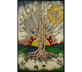 Twilight Tree Of Life Tapestry