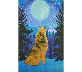 3D Wolf Sky Tapestry